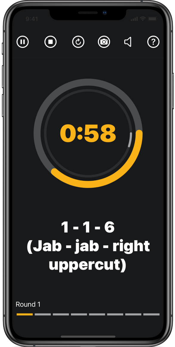 Boxing pad work app